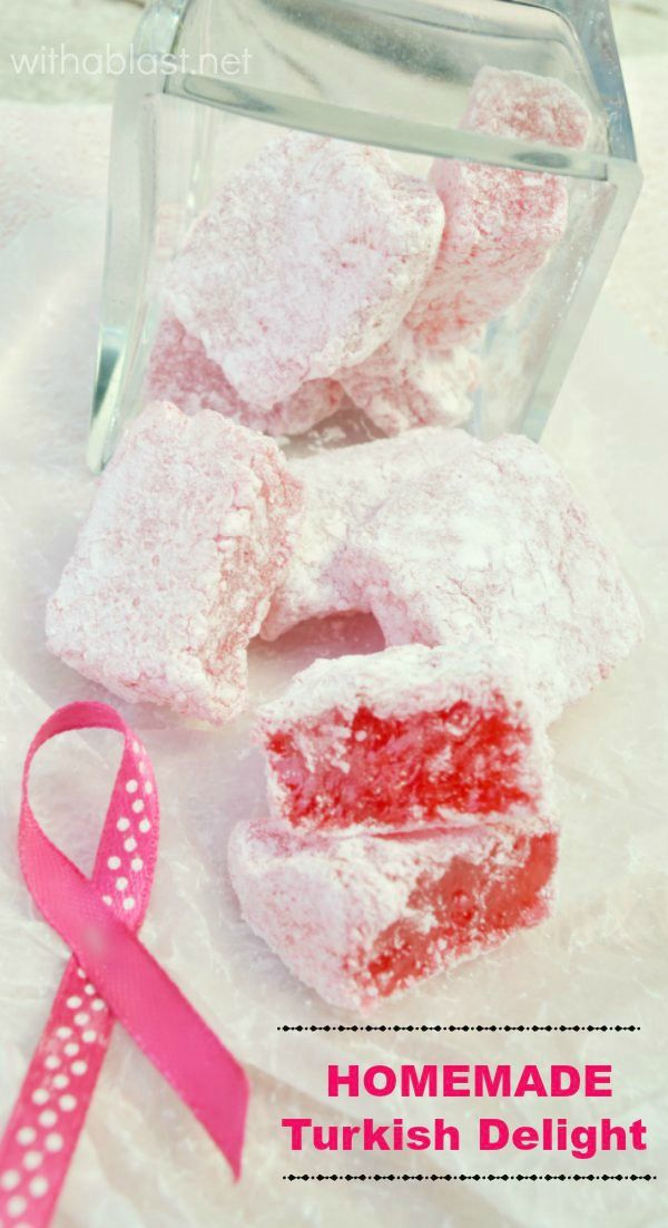 Soft, chewy homemade Turkish Delight is easier to make than you think ! #TurkishDelight #Candy
