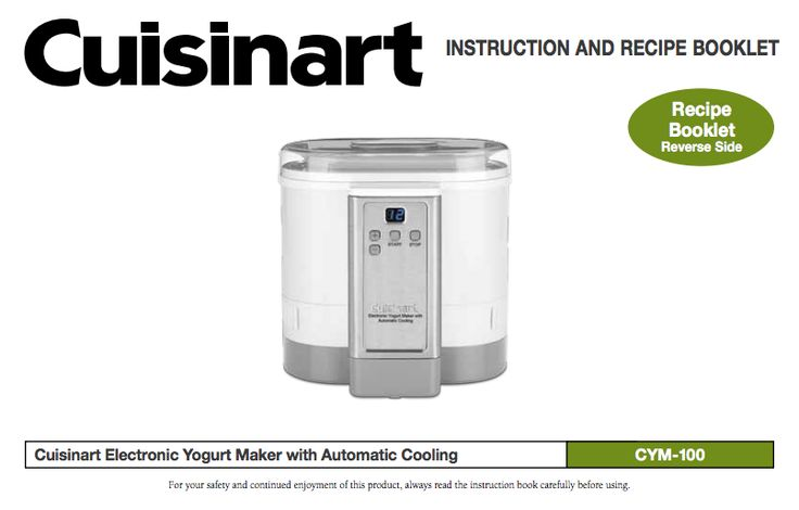 cuisinart soft serve ice cream maker manual pdf