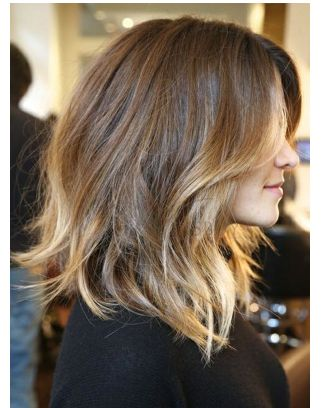 ombre, with lighter brown for the top