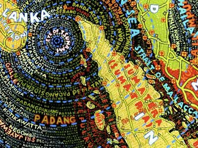 """tsunami map from paula scher's """"mapping out a changing world"""""""