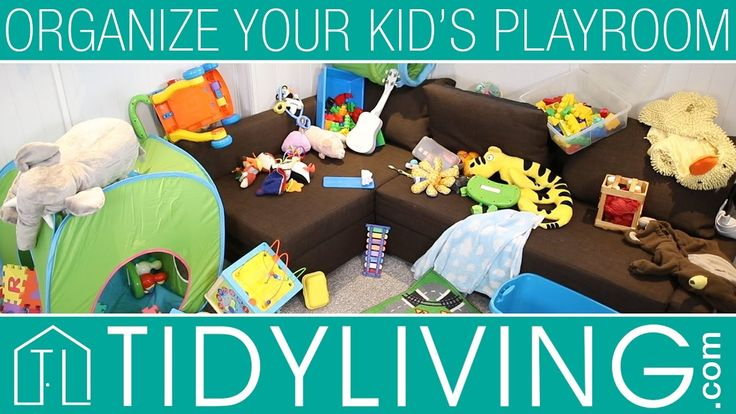 The SIMPLEST Way to Organize You Kid's Playroom | TidyLiving.com   Organization your kid's play space doesn't have to be a chore-- in fact it can be very simple, easy and quick! Your host, Thomas, shows you how you can achieve order in your home's most chaotic space!