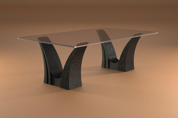 Articolo 3EA-10     Tavolino da salotto Apollo - Finitura: nero opaco.Misure: cm 110 x 65 - Altezza cm 37  - Peso: Kg.45 - Vetro: rettangolare -  temperato - extrawhite - filo lucido - spessore 1 cm