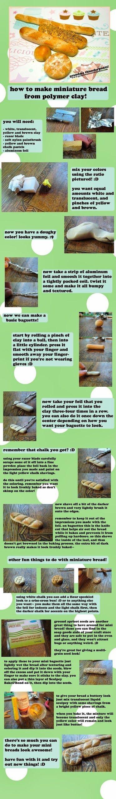 El hada de los cuentos: 2 tutoriales fáciles para hacer comida en miniatura.
