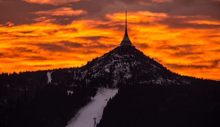 Ještě hill with the Ještěd tower itself. Great place to have view from.
