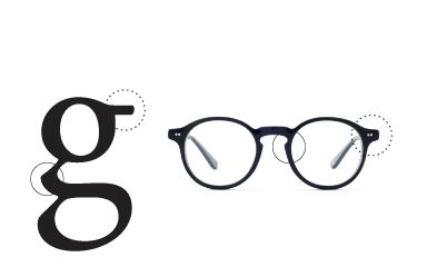 Helvetica Or Garamond: Typography-Inspired Eyewear by DesignTAXI.com. Why don't I need glasses again?