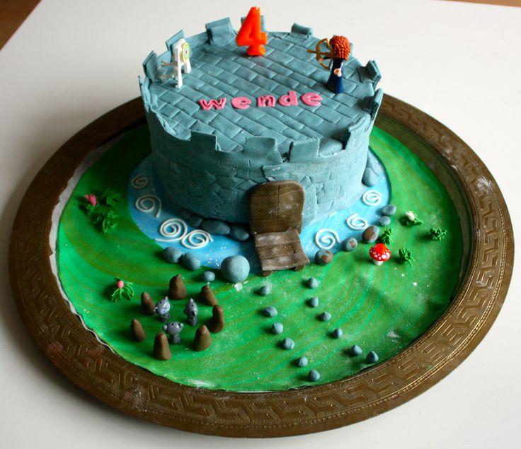 Merida Brave taart met chocolade bokkenpoot-creme vulling
