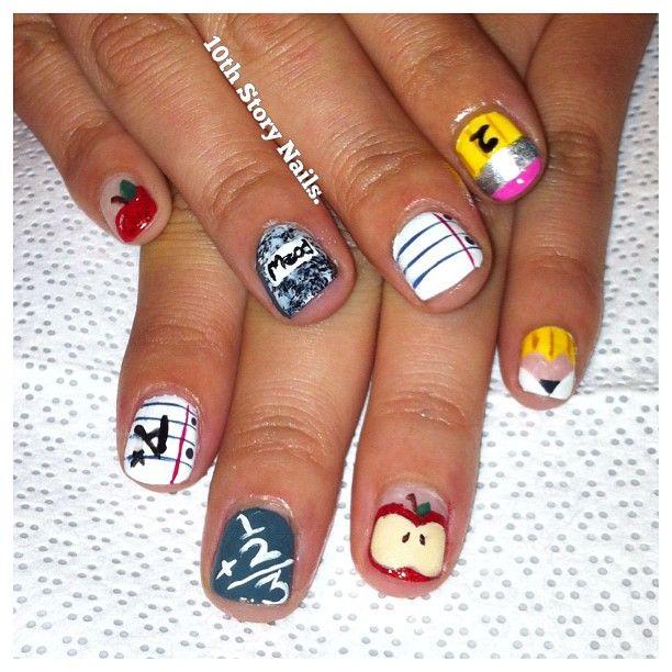 Cute Back To School Nail Art Cosmetic Ideas Tips Diy Nail