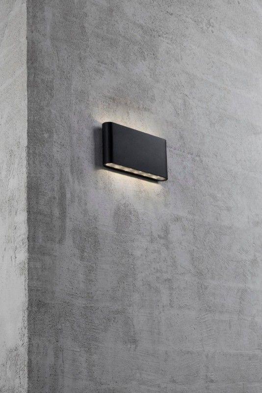 Nordlux Kinver LED Wandleuchte Außen 570lm schwarz