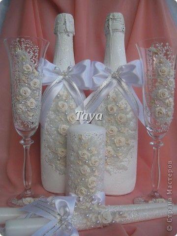Декор предметов Свадьба Лепка Свадебные наборы фото 1