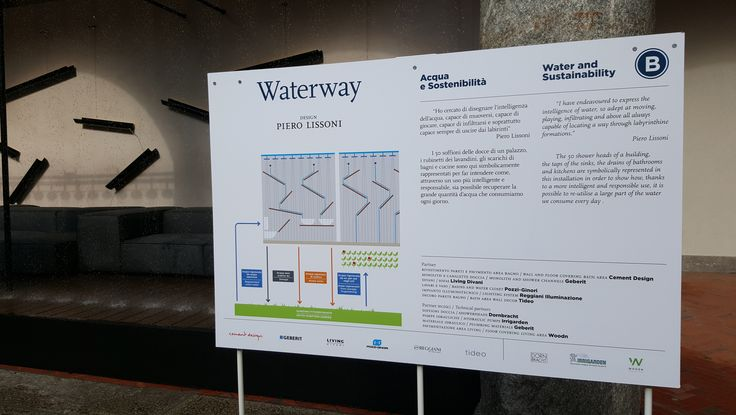 Water Design Milano 2-11 October 2015 Piero Lissoni *Waterway*istallation, design Piero Lissoni. Water and Sastainability.