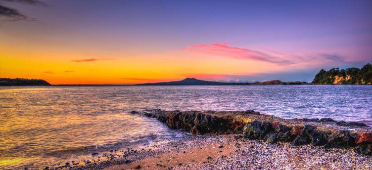 Rangitoto sunset