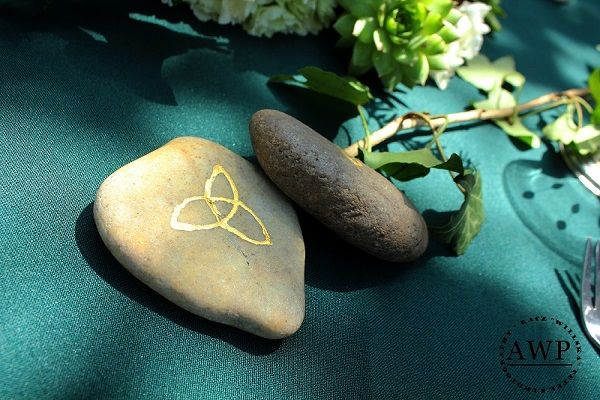 stone wedding favours