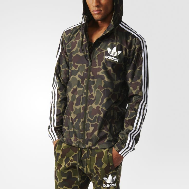 ADIDAS ORIGINALS CAMOUFLAGE WINDBREAKER BJ9997 MULTICOLOR