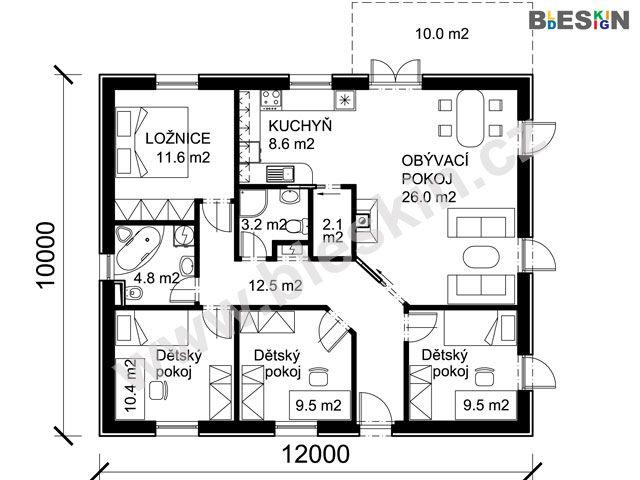 Komfortní rodinný dům přináší velkolepý projekt bungalovu C3
