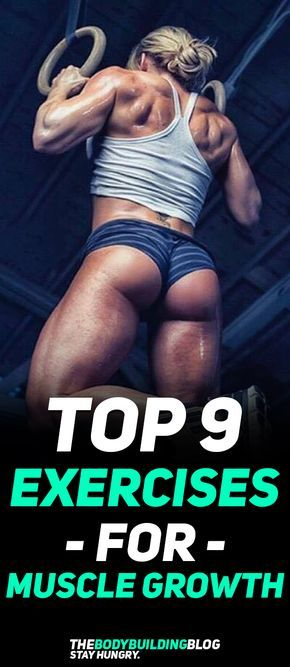 Check out The Top 9 Exercises for Muscle Growth! #fitness #gym #muscle #workout #exercise