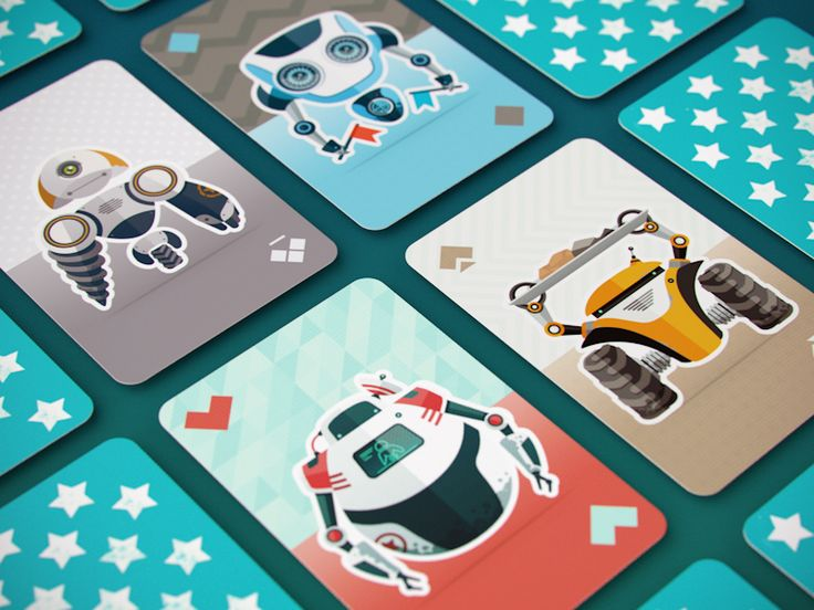 sick playing cards by @artua_design Robocards by Artua