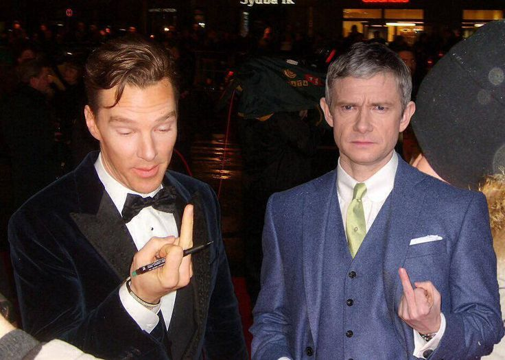 Im sorry, but Martin and Benedict making the finger is always funny, no matter h