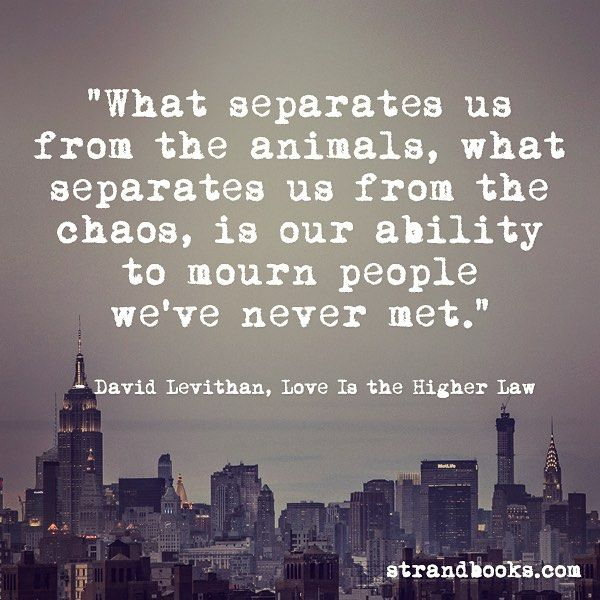 David Levithan Love Is The Higher Law Book Quotes Pinterest