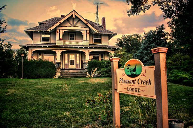 Pheasant Creek Kansas Hunting Lodge for Sale located in North Central Kansas. Historic mansion plus 280 acres of prime upland bird habitat www.MyWildlifeProperty.com