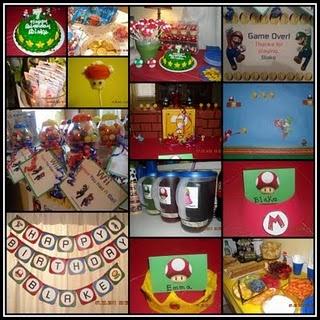 Super Mario bros Bday party