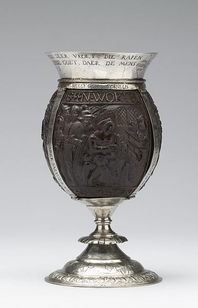 File:Cornelis de Bye - Coconut Cup with Old Testament Scenes - Walters 571046 - Side A.jpg