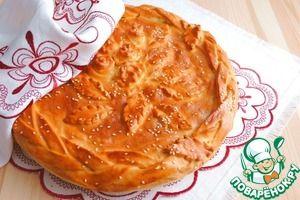 Рецепт: Пирог с мясом и луком