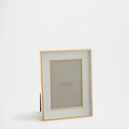 Bild des Produktes Doppelter Metallrahmen mit goldenem Rand