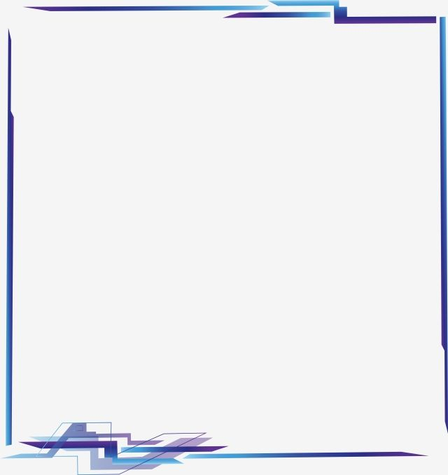 Blue Purple Geometric Border Geometry Technology Digital Border Gradient Future Png And Vector With Transparent Background For Free Download Digital Borders Geometric Geometric Background