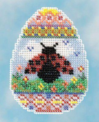 Ladybug Egg Cross Stitch Kit | sewandso