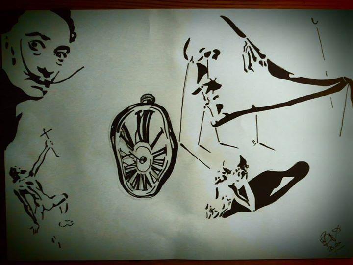 Studie obrazů od Salvadora Dalí, Lihové fixy, A4