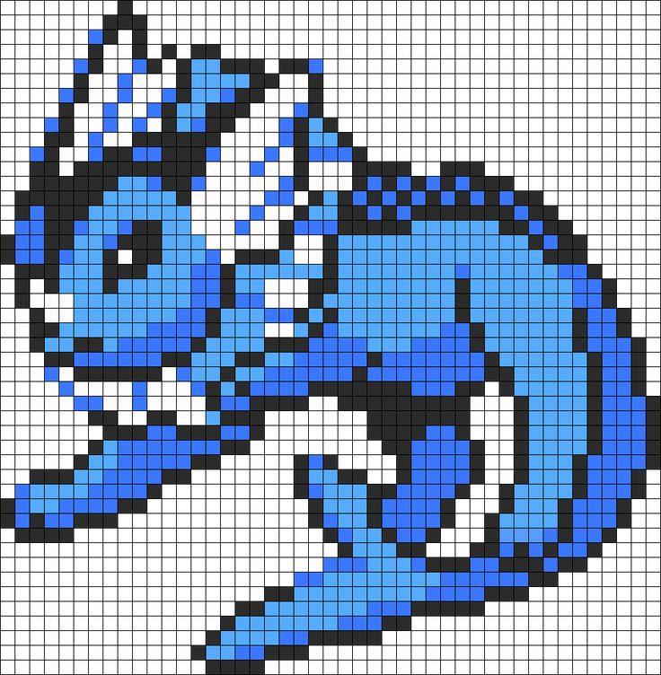 Vaporeon 134 Perler Bead Pattern | Bead Sprites | Characters Fuse Bead Patterns