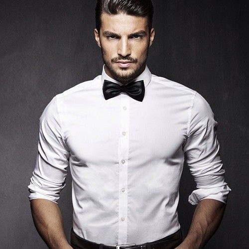 Hello Handsome | White Shirt, Bow Tie, Very Eligible Man ...