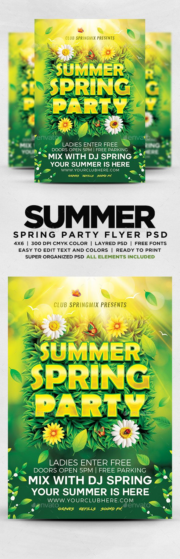 Best Party Flyers Images On   Flyer Template Font