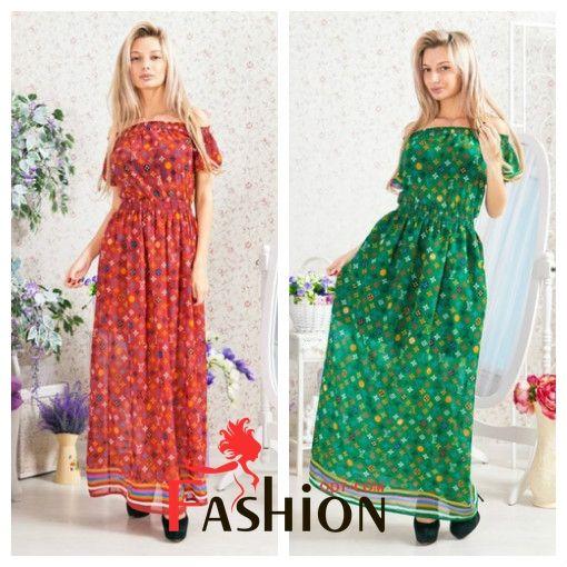 """👍6️⃣0️⃣9️⃣руб👍 Сарафан фонарик """"LV"""" в пол 4074 Производитель: FIRST WOMAN Ткань: Шифон Длина: Макси Размеры: универсальный (42-44-46). Цвета: зеленый, красный, желтый."""