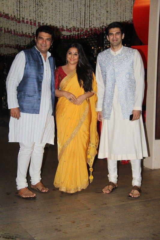 Priyanka Chopra Vidya Balan Kajol at Mukesh Ambanis Ganesh Chaturthi bash
