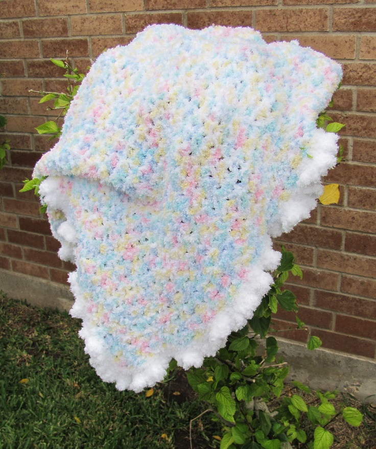 Tricialynne S Finished Contented Baby Blankie Using