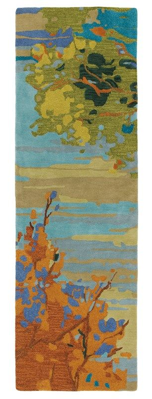 Company C Landscape 18862 Teal Rug Indoor/outdoor Rugs - Home Brands USA