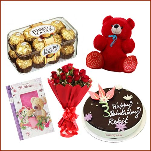 Send birthday gifts online from #Yummycake at best price, call 9718108300 and book your order now. #SendGiftsOnline #ValentinesGifts #ValentinesCake