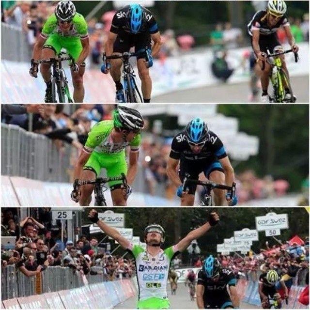 Che rimonta, che sprint, che vittoria, che cuore...ENRICO BATTAGLIN @bardiani_csf #EnricoBattaglin #GreenTeam #vittoria #Giro #agliè #Oropa #BardianiCSF
