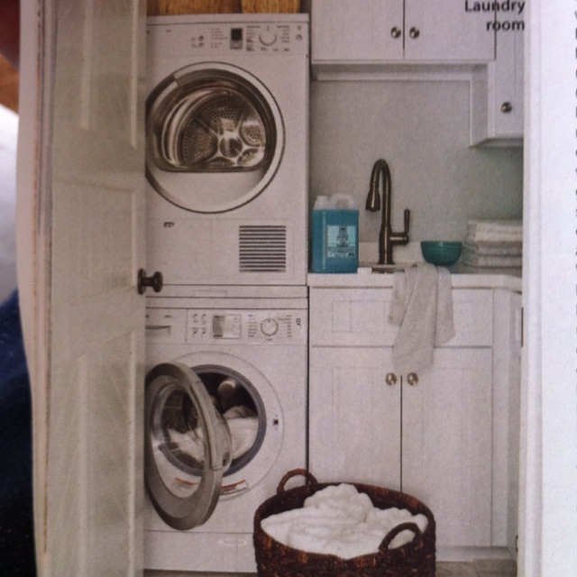 Stack Washer N Dryer W Sink Laundry Closet Organization