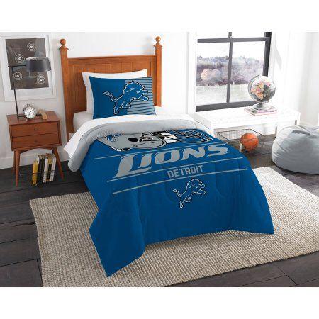 NFL Detroit Lions Draft Bedding Comforter Set, Blue
