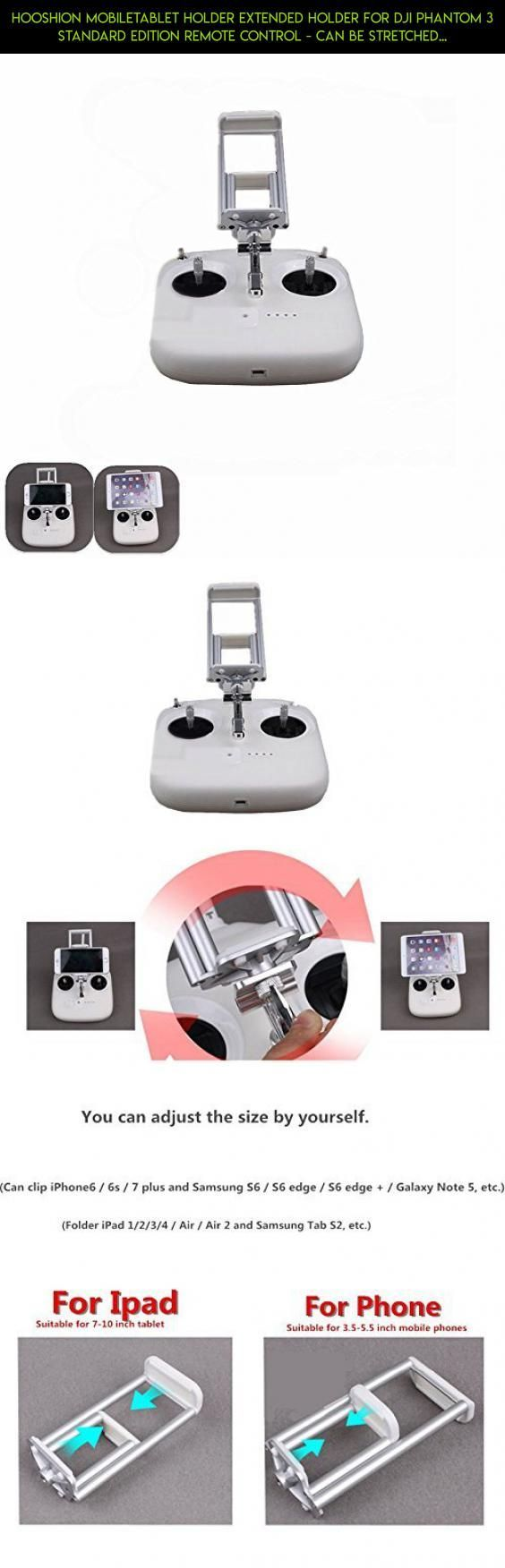 Hooshion MobileTablet Holder Extended Holder for DJI Phantom 3 Standard Edition Remote Control - Can be stretched clip #products #phantom #gadgets #kit #parts #technology #tech #3 #camera #racing #dji #plans #shopping #drone #edition #standard #fpv