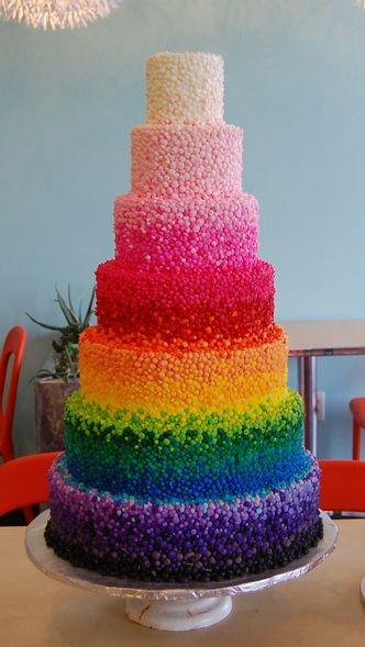 Rainbow Wedding Cake | Thinking In Squares