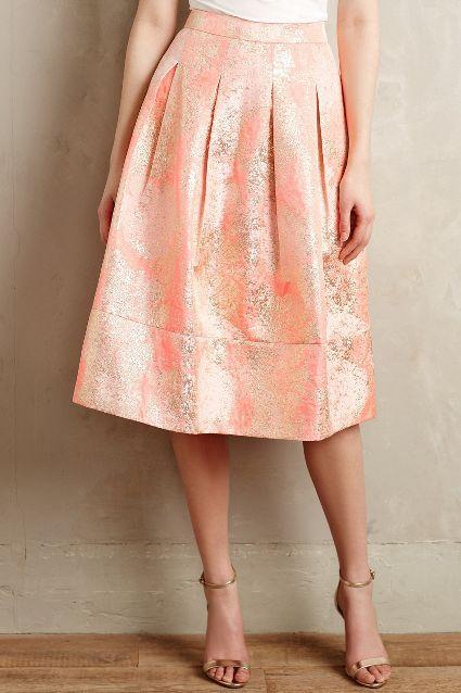 Blushing Blooms Midi Skirt - anthropologie.com #anthrofave