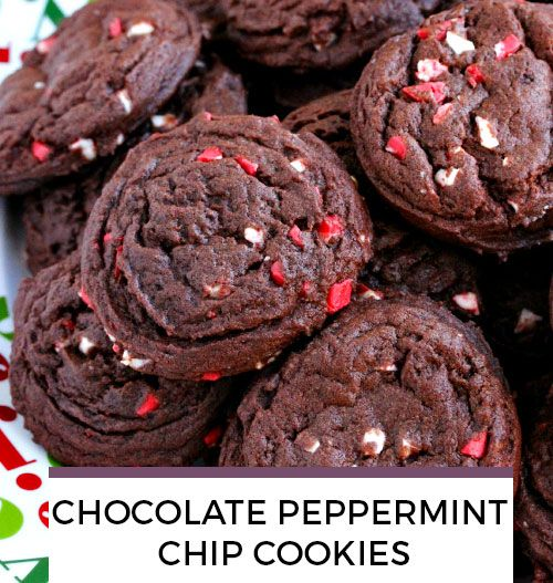Chocolate Peppermint Chip Cookies recipe