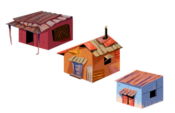 Some isometric design slum-houses mock ups. I would love to put more time on these, but I assume they wont be put to any use. Le sigh