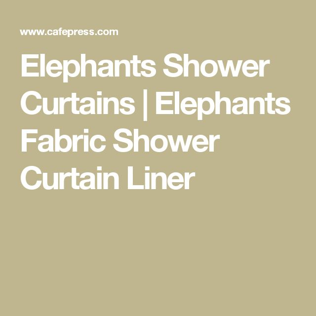 Elephants Shower Curtains | Elephants Fabric Shower Curtain Liner