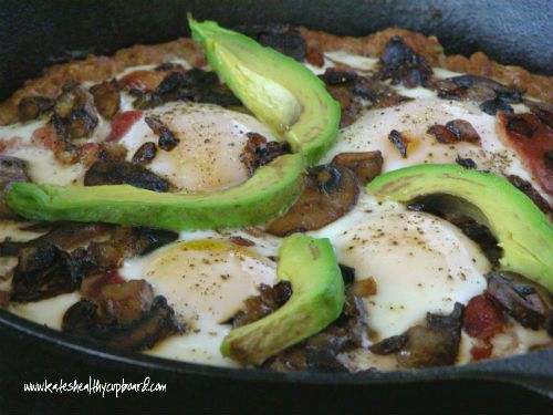 Paleo Breakfast Sausage White Cheese Pizza