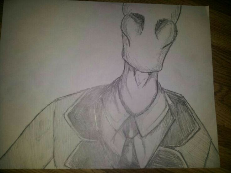 One of my best friends sketched slender man!