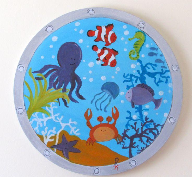 the deep happy blue!Round canvas 50 cm